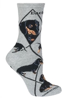 Dachshund Black Novelty Socks SaltyPaws.com