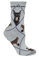 Doberman Novelty Socks SaltyPaws.com