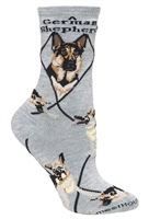 German Shepherd Novelty Socks SaltyPaws.com