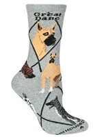 Great Dane Novelty Socks SaltyPaws.com
