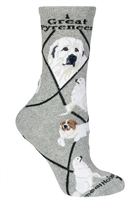 Great Pyrenees Novelty Socks SaltyPaws.com