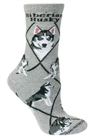 Siberian Husky Novelty Socks SaltyPaws.com