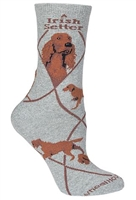 Irish Setter Novelty Socks SaltyPaws.com