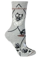 Keeshond Novelty Socks SaltyPaws.com