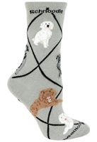 Schnoodle Novelty Socks SaltyPaws.com