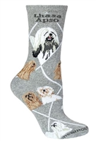 Lhasa Apso Novelty Socks SaltyPaws.com