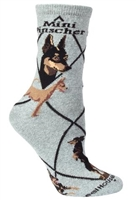 Miniature Pinscher Novelty Socks SaltyPaws.com