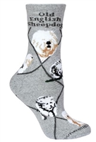 Old English SheepdogNovelty Socks SaltyPaws.com