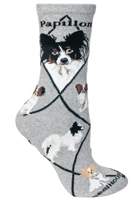 Papillion Novelty Socks SaltyPaws.com