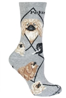 Pekingese Novelty Socks SaltyPaws.com