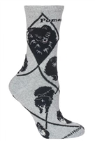 Black Pomeranian Novelty Socks SaltyPaws.com