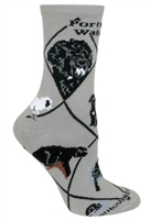 Portuguese Water Dog Novelty Socks SaltyPaws.com