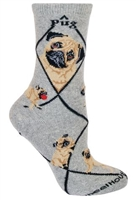 Fawn Pug Novelty Socks SaltyPaws.com