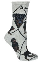 Rottweiler Novelty Socks SaltyPaws.com