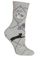 Schnauzer Novelty Socks SaltyPaws.com