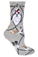 Shih Tzu Novelty Socks SaltyPaws.com