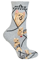 Silky Terrier Novelty Socks SaltyPaws.com