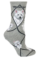 West Highland Terrier Novelty Socks SaltyPaws.com