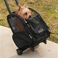 Pet Wheeled Carrier Airline Approved Medium www.SaltyPaws.com