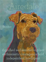 Airedale Terrier Artistic Fridge Magnet SaltyPaws.com