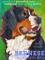 Bernese Mountain Dog Artistic Fridge Magnet SaltyPaws.com