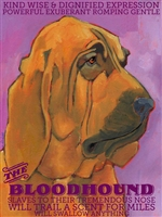 Bloodhound Artistic Fridge Magnet SaltyPaws.com