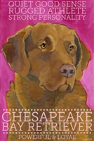 Chesapeake Bay Retriever Artistic Fridge Magnet SaltyPaws.com