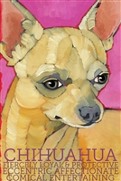 Light Tan Chihuahua Artistic Fridge Magnet SaltyPaws.com
