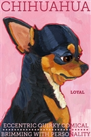 Tan and Black Chihuahua Artistic Fridge Magnet SaltyPaws.com
