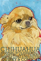 Tan Chihuahua Artistic Fridge Magnet SaltyPaws.com