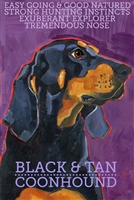 Coonhound Black & Tan Artistic Fridge Magnet SaltyPaws.com