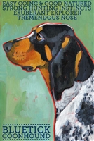 Coonhound Bluetick Artistic Fridge Magnet SaltyPaws.com