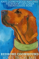 Coonhound Redbone Artistic Fridge Magnet SaltyPaws.com