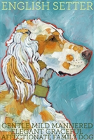 English Setter Orange Belton Artistic Fridge Magnet SaltyPaws.com