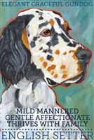 English Setter Tri Artistic Fridge Magnet SaltyPaws.com