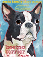 Boston Terrier Artistic Fridge Magnet SaltyPaws.com