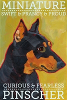 Miniature Pinscher Black & Tan Artistic Fridge Magnet SaltyPaws.com