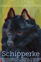 Schipperke Artistic Fridge Magnet SaltyPaws.com