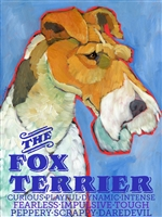 Fox Terrier Wire Artistic Fridge Magnet SaltyPaws.com