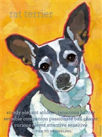 Rat Terrier Artistic Fridge Magnet SaltyPaws.com