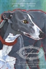 Greyhound Gray and White Artistic Fridge Magnet SaltyPaws.com