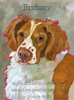 Brittany Spaniel Artistic Fridge Magnet SaltyPaws.com