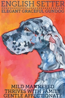 English Setter Blue Belton Artistic Fridge Magnet Magnet SaltyPaws.com