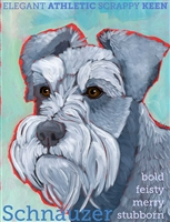 Schnauzer Uncropped Artistic Fridge Magnet SaltyPaws.com