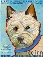 Cairn Terrier Artistic Fridge Magnet SaltyPaws.com