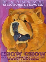 Chow Chow Artistic Fridge Magnet SaltyPaws.com