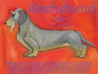 Dachshund Wire Hair Artistic Fridge Magnet SaltyPaws.com