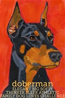 Doberman Pinscher Cropped Artistic Fridge Magnet SaltyPaws.com