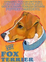 Fox Terrier Brown And White Artistic Fridge Magnet SaltyPaws.com