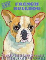 French Bulldog Cream Artistic Fridge Magnet SaltyPaws.com